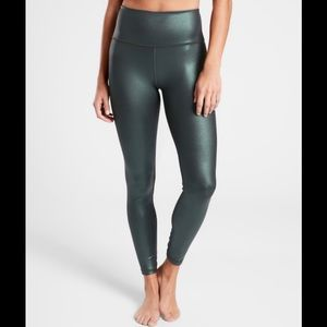 Athleta Elation Ultra High Rise Tight Forest Green